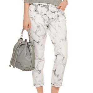 J Brand | Aubrey Sonic Relaxed Crop Marble…